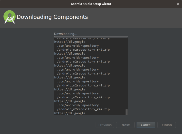 android-downloading-components-error